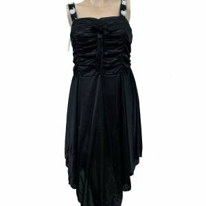 Black Soft Silk Night Dress For Women